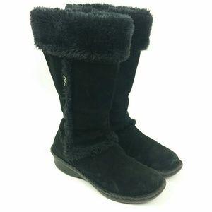 Anne Klein Sport fuzzy suede black boots 9/9.5